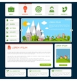 Eco website template vector image