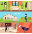 House Cleaning and Pest Control vector image