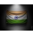 waving flag india on a dark wall vector image vector image