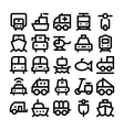 Transport Icons 4 vector image