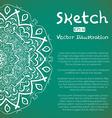Hand Drawn Mandala Ornament Sketch Mockup vector image