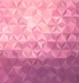 Pink low poly background vector image
