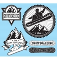 set of templates for extreme snowboarding vector image