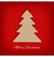 Cardboard christmas tree vector image