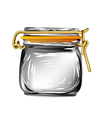 canning jar vector image vector image