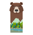 bear Head grizzly bear Template for reserve and vector image
