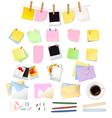 big set of office envelopes vector image