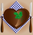 plateheart a knife and fork vector image vector image
