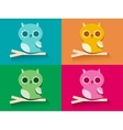 Owl Sitting On Tree Branch vector image