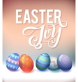 Realistic eggs on pastel background Easter vector image
