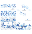 Set of 4 Checkered Background vector image vector image