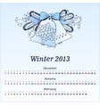 Calendar 2013 Winter vector image vector image