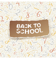 back to school on numbers seamless pattern vector image