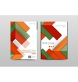 Business annual report brochure cover vector image