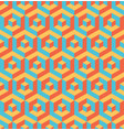 abstract 3d background of isometric hexagonal vector image