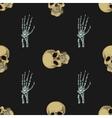 doodle skull pattern vector image