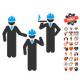 engineer persons discussion icon with dating bonus vector image