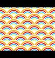 rainbows seamless pattern vector image