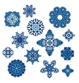 Winter Pattern Elegant floral abstract elements vector image
