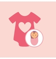 cute newborn girl on pink blanket and onesie vector image