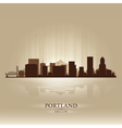 Portland Oregon skyline city silhouette vector image