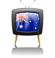 The flag of Australia inside a television vector image vector image