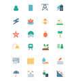 Nature and Ecology Colored Icons 5 vector image
