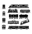 Passenger and public rail city transport black vector image vector image