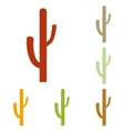 Cactus simple sign vector image