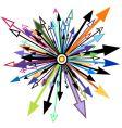 arrow element vector image vector image