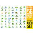 Nature Logo Green Leaf Logo vector image