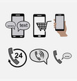 icons phones communications incoming outgoing vector image