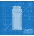kitchen bottle template vector image