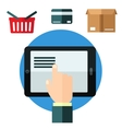 Online shopping or e-commerce concept vector image