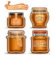persimmon jam in jars vector image