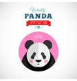 Weekly Panda Cute Flat Animal Icon Ablush vector image