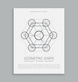 sacred geometry sign and symbol vector image