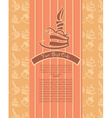 birthday cakes candle and pattern background vector image vector image