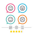 smile icons happy sad and wink faces vector image
