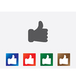Like icons vector image vector image
