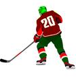 al 0643 hockey player 01 vector image vector image