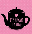 Greeting card Lettering I love tea vector image