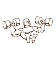 Gym Man vector image vector image