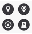 modern map pointer icons set vector image vector image