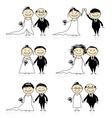 wedding ceremony vector image vector image