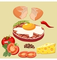 cutlet with egg vector image