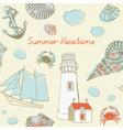 Sea Coast Vacation Background vector image vector image