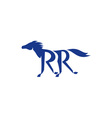 Blue Horse Silhoutte RR Legs Running Retro vector image