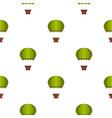 green hot air balloon pattern seamless vector image