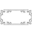 horizontal frame Element for design vector image